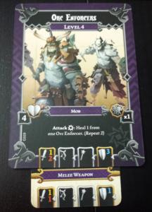 Dieser Orc Mob hat Beute und macht von ihr Gebrauch.