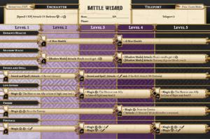 Die Fähigkeiten des Battle Wizard.